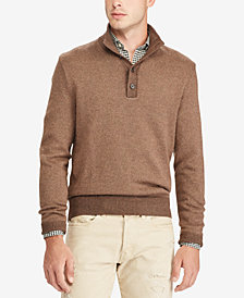 Polo Ralph Lauren Men's Tussah Silk Mock Neck Sweater