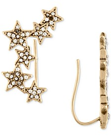 Gold-Tone Pavé Stars Crawler Earrings