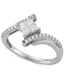 Diamond Swirl Ring (1/2 ct. t.w.) in 14k White Gold