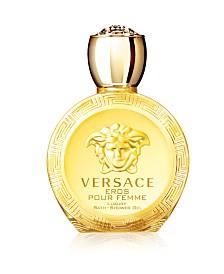 Versace Eros Pour Femme Eau de Toilette Bath and Shower Gel, 6.7 oz.