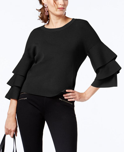 INC International Concepts Tiered-Sleeve Sweater, Created for Macy's