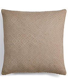 """Hotel Collection Pebble Diamond 18"""" Square Decorative Pillow, Created for Macy's"""