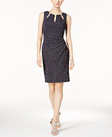 Jessica Howard Cutout Glitter Sheath Dress