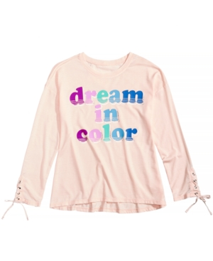Kandy Kiss Dream In Color LaceUp Sleeve TShirt Big Girls (716)