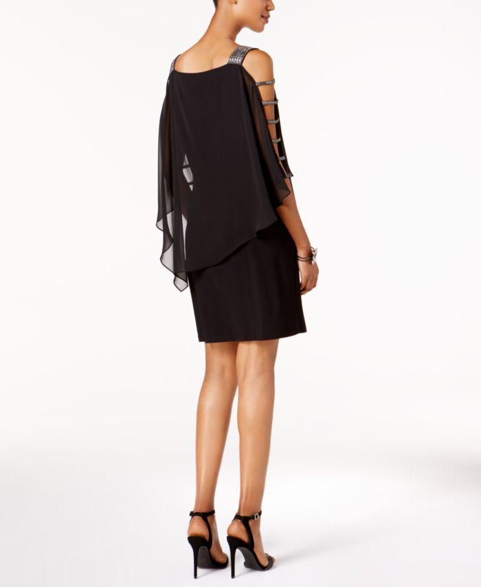 MSK Petite Embellished Chiffon-Overlay Dress & Reviews - Dresses - Petites - Macy's