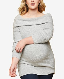 Motherhood Maternity Plus Size Cowl-Neck Sweater
