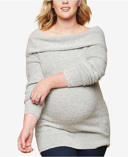 Motherhood Maternity Plus Size Cowl-Neck Sweater