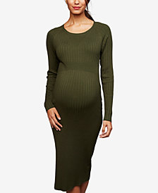 RIPE Maternity Ribbed Sheath Dress