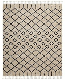 "Rocco Shag ROC01 Cream 7' 10"" x 10' 6"" Area Rug"