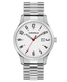 Caravelle Men's Stainless Steel Bracelet Watch 40mm