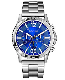 Caravelle Designed by Bulova  Men's Chronograph Stainless Steel Bracelet Watch 44mm