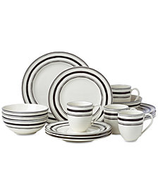Lenox Around the Table Stripe 16-Pc. Dinnerware Set Service For 4, Created for Macy's