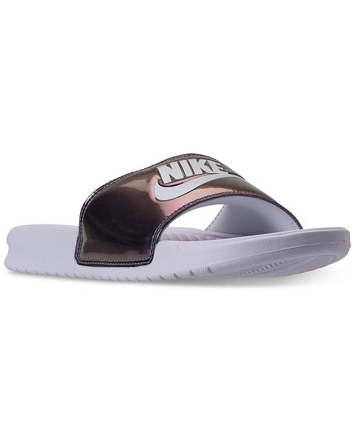 93f6cc196106 Nike Women s Benassi JDI Print Slide Sandals from Finish Line ...