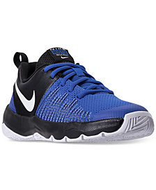 Nike Big Boys'   Team Hustle Quick Basketball Sneakers from Finish Line