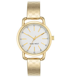Nine West Women's Gold-Tone Bangle Bracelet Watch 32mm