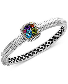 Final Call by EFFY® Multi-Gemstone Bangle Bracelet (2 ct. t.w.) in Sterling Silver & 18k Gold
