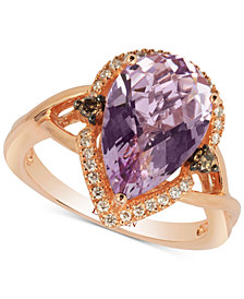 Le Vian Chocolatier® Cotton Candy Amethyst® (3-1/3 ct. t.w.) & Diamond (1/5 ct. t.w.) Ring in 14k Rose Gold
