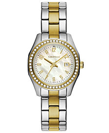 Caravelle Women's Two-Tone Stainless Steel Bracelet Watch 28mm