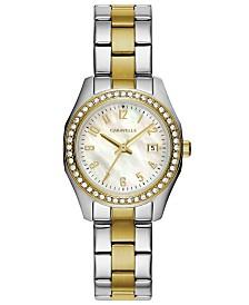 Caravelle Designed by Bulova  Women's Two-Tone Stainless Steel Bracelet Watch 28mm