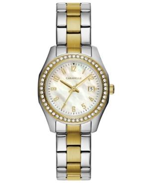 Designed by Bulova Women's Two-Tone Stainless Steel Bracelet Watch 28mm