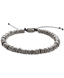 DEGS & SAL Men's Washer Bolo Bracelet in Sterling Silver