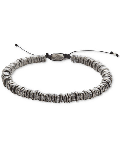 DEGS & SAL Men's Washer Slider Bracelet in Sterling Silver