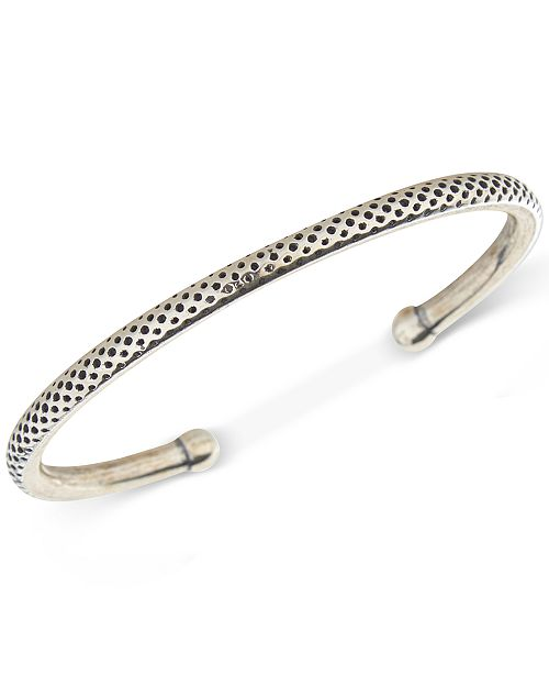 DEGS & SAL Men's Dotted Cuff Bracelet in Sterling Silver