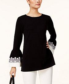 Alfani Lace-Cuff Sweater, Created for Macy's