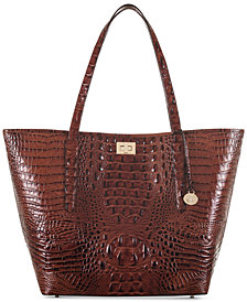 Brahmin Annika Melbourne Extra-Large Embossed Leather Tote