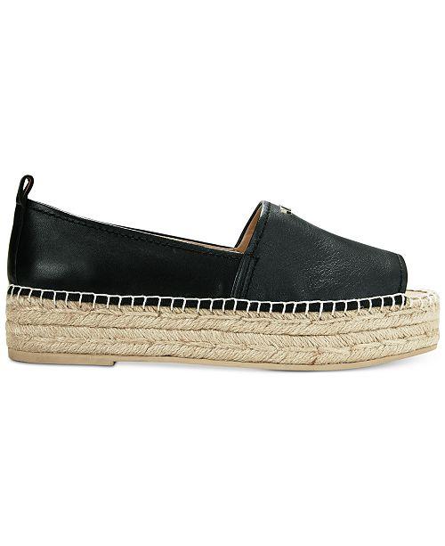 DKNY Mer Peep-Toe Espadrille Sandals, Created for Macy's