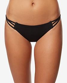 Juniors' Salt Water Solids Strappy Hipster Bikini Bottoms