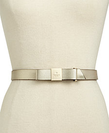 kate spade new york Logo Bow Leather Belt