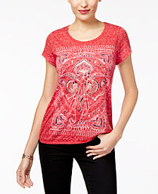 Style & Co Graphic Top, Created for Macy's