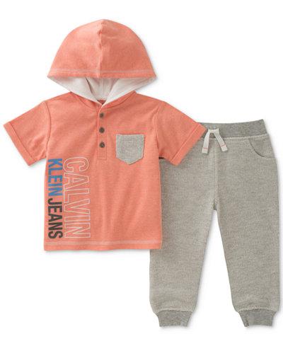 Calvin Klein 2-Pc. Hoodie & Jogger Pants Set, Baby Boys