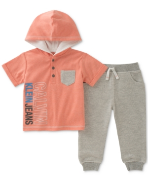 Calvin Klein 2Pc Hoodie  Jogger Pants Set Baby Boys (024 months)