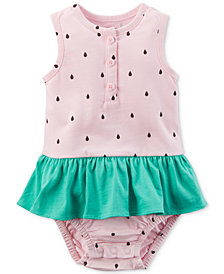 Carter's Watermelon Cotton Ruffle Romper, Baby Girls
