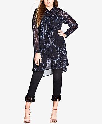 City Chic Trendy Plus Size Printed Tunic