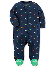 Carter's Baby Boys Dinosaur-Print Footed Coverall