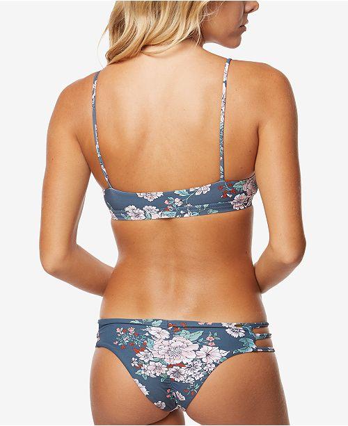cc03f936e0e39 O Neill Juniors  James Floral-Print Bralette Bikini Top   Reviews ...