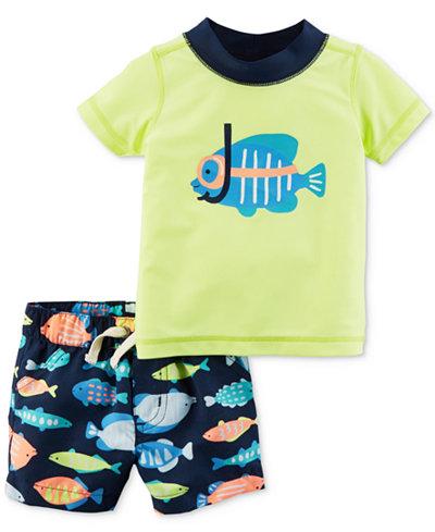 Carter's 2-Pc. Fish Rash Guard & Swim Trunks Set, Baby Boys