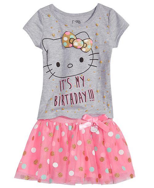 e3add0575b642 Hello Kitty 2-Pc. T-Shirt   Tutu Skirt Set