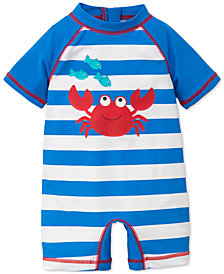 Little Me Striped Crab Rash Guard Swimsuit, Baby Boys