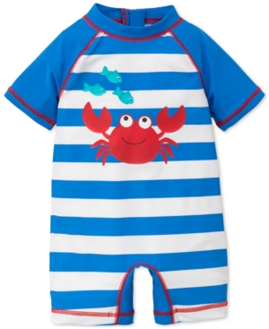 Little Me Striped Crab Rash Guard Swimsuit Baby Boys (024 months)