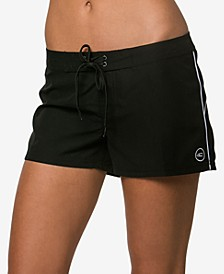 "Juniors' Salt Water Solid 3"" Board Shorts"