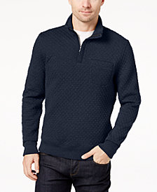 Brooks Brothers Men's Quilted Jacquard Quarter-Zip Sweater