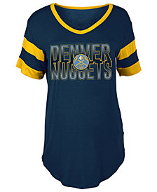 5th & Ocean Women's Denver Nuggets Hang Time Glitter T-Shirt