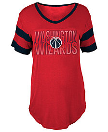 5th & Ocean Women's Washington Wizards Hang Time Glitter T-Shirt