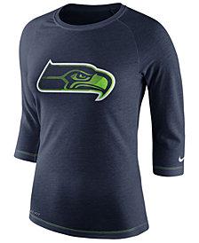 Nike Women's Seattle Seahawks Logo 3/4 Sleeve T-Shirt