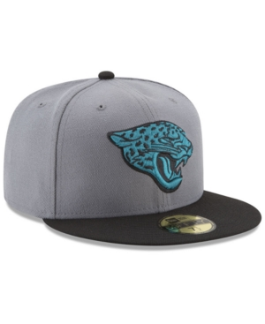 5f22a586147 New Era Jacksonville Jaguars Pop Off 59Fifty Fitted Cap In Gray Black ...