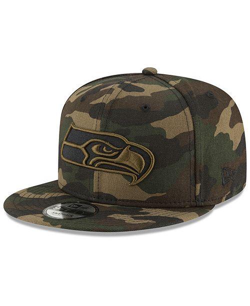 9cfb5f5d23b40 ... New Era Seattle Seahawks Camo on Canvas 9FIFTY Snapback Cap ...